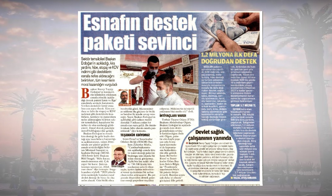 ESNAFIN DESTEK PAKETİ SEVİNCİ